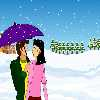 colordressup Snow Fall kissisng