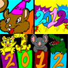 New Year 2012 Coloring