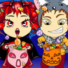 Trick or Treat: Vampgirl and Wereboy Halloween Coloring