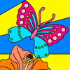 Tropical Butterflies Coloring